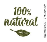 100  natural lettering with... | Shutterstock .eps vector #775009309