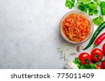 traditional mexican homemade... | Shutterstock . vector #775011409