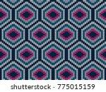 hexagon knitted seamless... | Shutterstock .eps vector #775015159