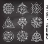 set of geometry sacred symbols... | Shutterstock .eps vector #775016161