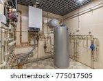hot water thermal storage tank. ... | Shutterstock . vector #775017505