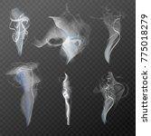set of realistic cigarette... | Shutterstock .eps vector #775018279