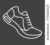 running shoes line icon ... | Shutterstock .eps vector #775020325