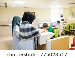 inside nice hospital | Shutterstock . vector #775023517