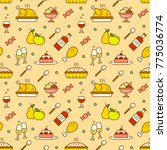 food background with cute... | Shutterstock .eps vector #775036774