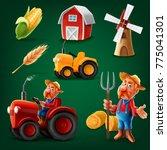 set icons for farm | Shutterstock .eps vector #775041301