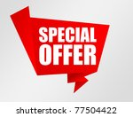 red and white special offer... | Shutterstock . vector #77504422