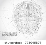 three dimensional vector cyber... | Shutterstock .eps vector #775045879