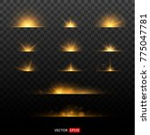 shining star  the sun particles ... | Shutterstock .eps vector #775047781