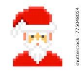 santa claus pixel art cartoon... | Shutterstock .eps vector #775048024