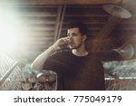 man. close up portrait  smiling ... | Shutterstock . vector #775049179