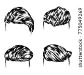 a set of men's hairstyles.... | Shutterstock .eps vector #775049269