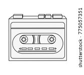old cassette recorder   Shutterstock .eps vector #775057351