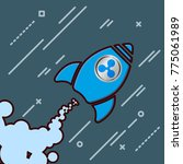 ripple xrp like a rocket icon... | Shutterstock .eps vector #775061989