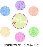 bath bombs vector set design... | Shutterstock .eps vector #775062319