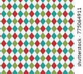 holiday argyle. eps file... | Shutterstock .eps vector #775064911