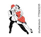 salsa party  vector poster.... | Shutterstock .eps vector #775065235