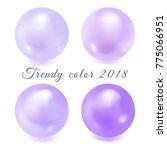 trendy color 2018. glossy ultra ...   Shutterstock .eps vector #775066951