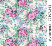 floral pattern in vector | Shutterstock .eps vector #775071985