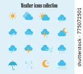 weather icons collection | Shutterstock .eps vector #775072501