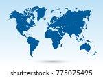 world map vector | Shutterstock .eps vector #775075495