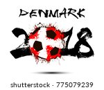 abstract number 2018 and soccer ... | Shutterstock .eps vector #775079239
