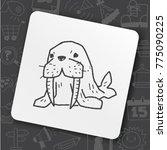 art icon link drawn doodle idea ... | Shutterstock .eps vector #775090225