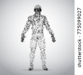 abstract dotted human body on... | Shutterstock .eps vector #775099027