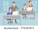 business people with bullying... | Shutterstock .eps vector #775107871