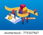 isometric data statistics and... | Shutterstock .eps vector #775107967
