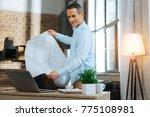 future planning. attentive man... | Shutterstock . vector #775108981