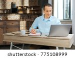 making notes. competent manager ... | Shutterstock . vector #775108999