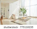 white interior style living room   Shutterstock . vector #775110235