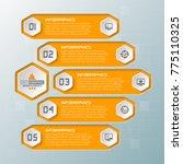 vector abstract 3d paper... | Shutterstock .eps vector #775110325
