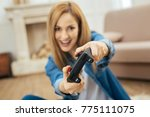 play with me. lovely vigorous... | Shutterstock . vector #775111075