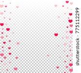hearts confetti random falling... | Shutterstock .eps vector #775112299