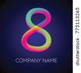 colorful blending number 8.... | Shutterstock .eps vector #775113265