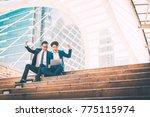 successful asian business man... | Shutterstock . vector #775115974
