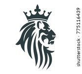 the head of a lion with a royal ... | Shutterstock .eps vector #775116439