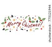 merry christmas card | Shutterstock .eps vector #775121944