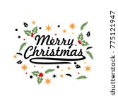 merry christmas card | Shutterstock .eps vector #775121947