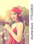 portrait of joyful young... | Shutterstock . vector #775122814