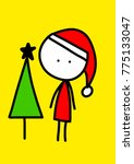 santa merry christmas | Shutterstock . vector #775133047