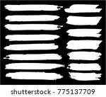 collection of hand drawn white... | Shutterstock .eps vector #775137709