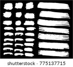collection of hand drawn white... | Shutterstock .eps vector #775137715