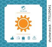 sun symbol icon | Shutterstock .eps vector #775139041