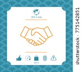 handshake line icon   Shutterstock .eps vector #775142851