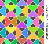 abstract seamless pattern on... | Shutterstock .eps vector #775145974