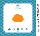 cloud symbol icon | Shutterstock .eps vector #775146109
