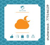 cloud moon symbol icon | Shutterstock .eps vector #775146139